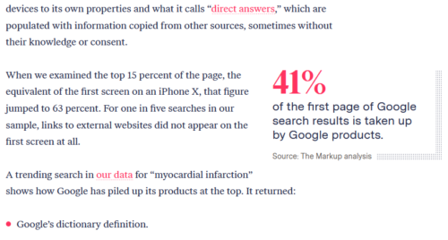 Pullquote/statistic highlighted by larger text and moving into a right hand column.